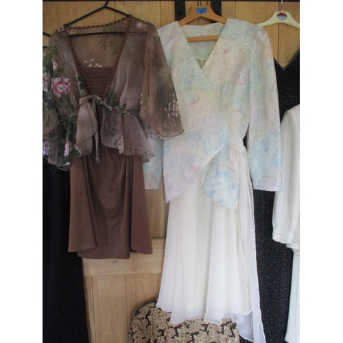 46 - Late 20th century High Street and boutique ladies formal and evening attire to include a Berketex tw...