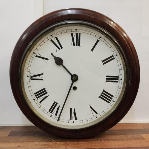 A 19th century mahogany cased dial clock A/F Location: BWR