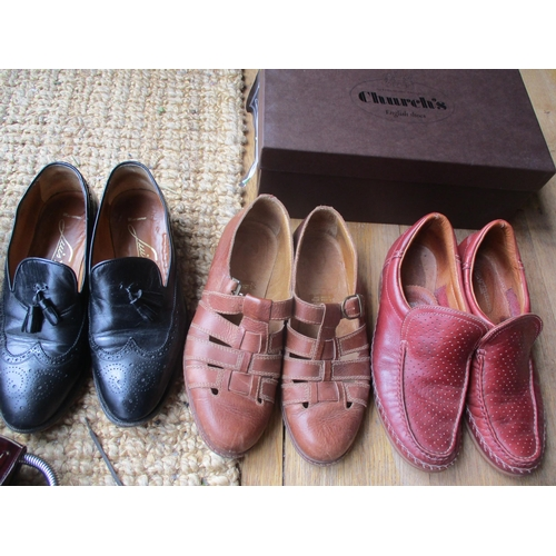 11 - Two pairs of gents Church's shoes, one pair tobacco leather lace up shoes style 7482/47, size 70F (r...