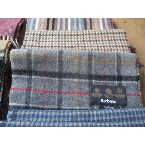 13 - Gents mixed scarves to include Gant, Barbour, Frangi cashmere and evening silk tasselled scarves tog...
