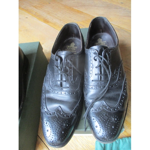 27 - Four pairs of good quality gents leather shoes, size 7E, to include two pairs of Barker 'Nairn Cedar...