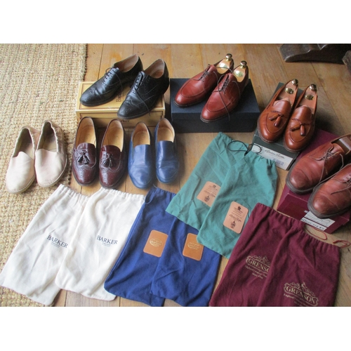 29 - Seven pairs of gents leather shoes, sizes 6.5 and 7, to include a pair of Barker black Norfolk Burni...