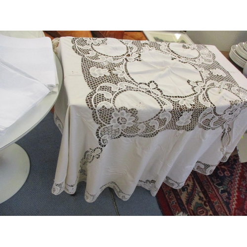 58 - A quantity of mainly John Lewis table linen to include an un-opened Design Project tablecloth and ei...