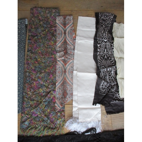 60 - A quantity of gents evening scarves and ties to include bow-ties, cumberlands, an Yves Saint Laurent...