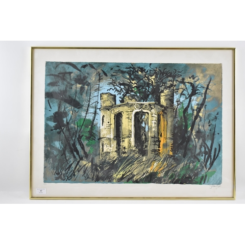 17 - John Piper (1903-1992) Dinton Folly, limited edition lithograph, signed and numbered 25/100 in penci...