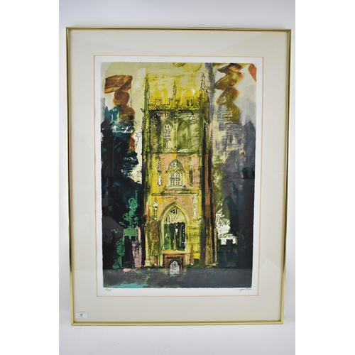 18 - John Piper (1903-1992) Isle Abbots, limited edition lithograph, signed and numbered 68/100, in penci...