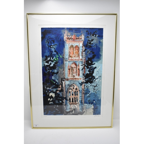 19 - John Piper (1903-1992) Huish Episcopi, limited edition lithograph, signed and numbered 14/100 in pen...