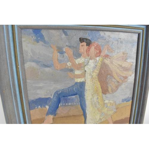 5 - Harold Dearden (British 1888 - 1962) Oil on board entitled 'The Rites of Spring', 24.5 x 24cm, frame...
