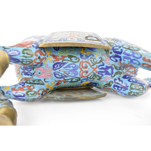 53 - A large Chinese cloisonné enamel mode of a rearing horse, 41cm h