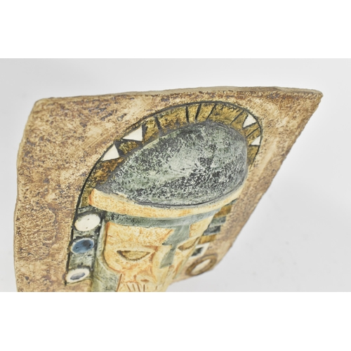 6 - A Troika mask with incised and textured 'Aztec' decoration, monogrammed AW for Annette Walters circa...