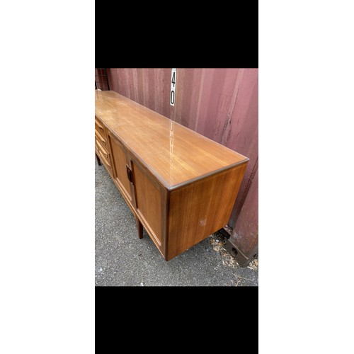 48 - A mid 20th century G-Plan Fresco range teak sideboard, designed by Victor B Wilkins, with four centr...