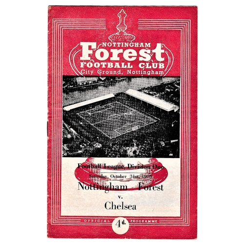 11 - Nottingham Forest v Chelsea 1959 October 31st League horizontal & vertical creases...