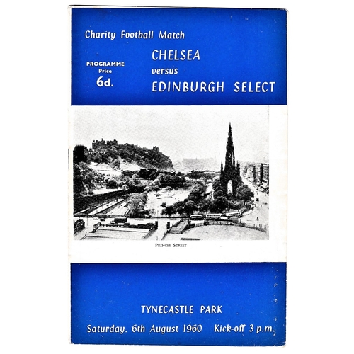 15 - Chelsea v Edinburgh Select 1960 August 6th Charity Match at Tynecastle Park vertical creases...