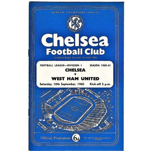 24 - Chelsea v West Ham United 1960 September 10th League vertical crease...