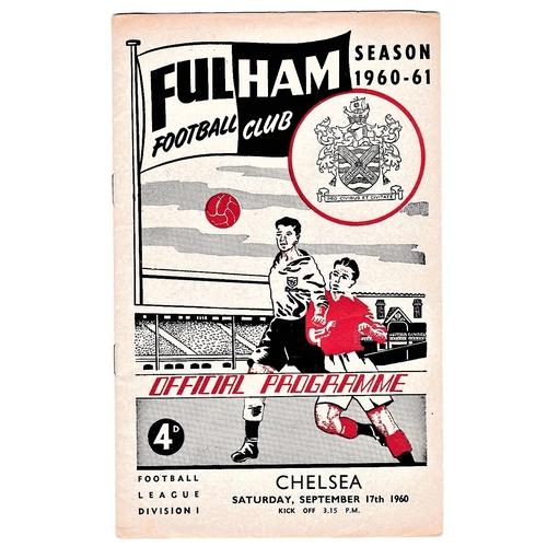 25 - Fulham v Chelsea 1960 September 17th League...