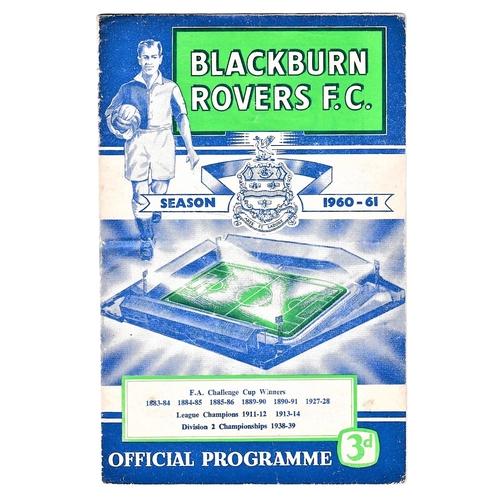26 - Blackburn Rovers v Chelsea 1960 September 19th League (date has been amended in pen original print 1...