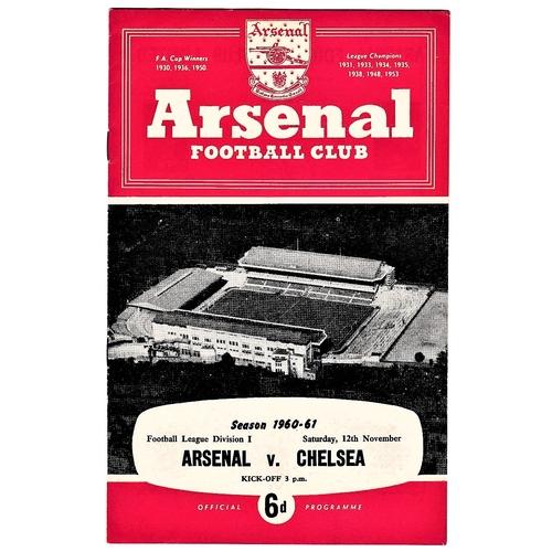 39 - Arsenal v Chelsea 1960 November 12th League...