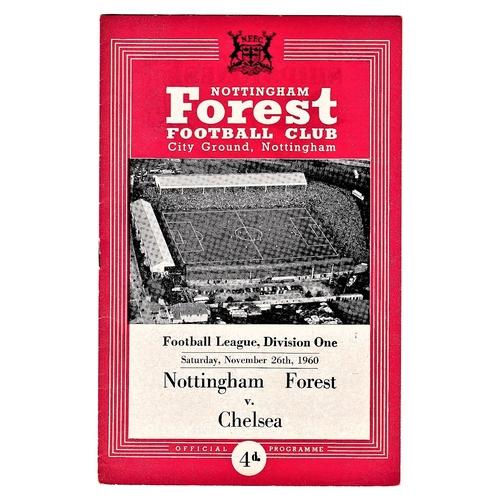 42 - Nottingham Forest v Chelsea 1960 November 26th League score & attendance in pen...