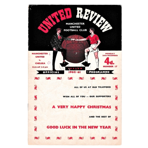 50 - Manchester United v Chelsea 1960 December 26th League score in pen front cover...