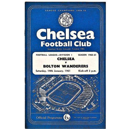 53 - Chelsea v Bolton Wanderers 1961 January 14th League vertical crease...