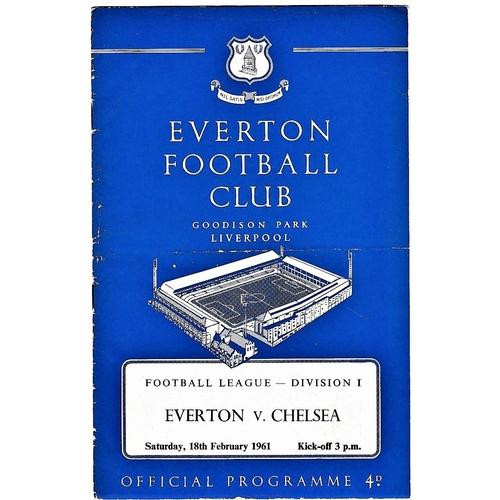 58 - Everton v Chelsea 1961 February 18th League horizontal crease...