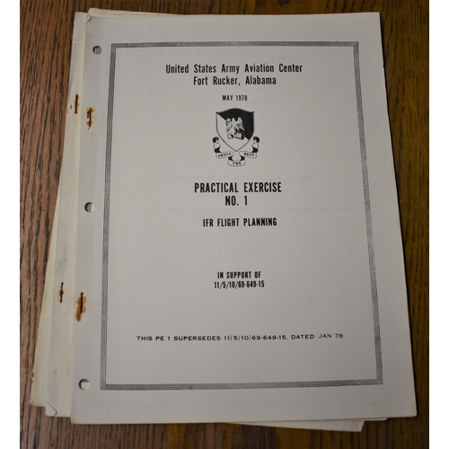 74 - United States Army Air Force Instructional Manuals, Aviation Centre Fort Rucker, Alabama dated 1977/...