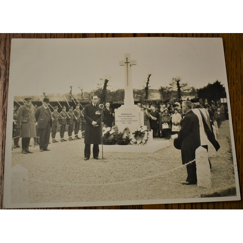 83 - The dedication of the new war memorial  in Grouville attended by a Field Marshall, Channel Island of...