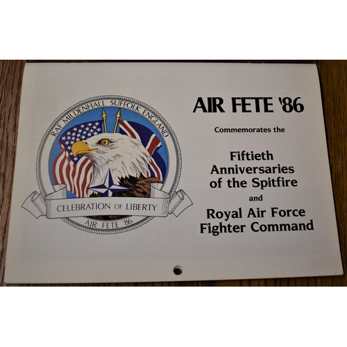 91 - Air Fete 86 - Commemorates the Fifteenth Anniversaries of the Spitfire and Royal Air Force Fighter C...