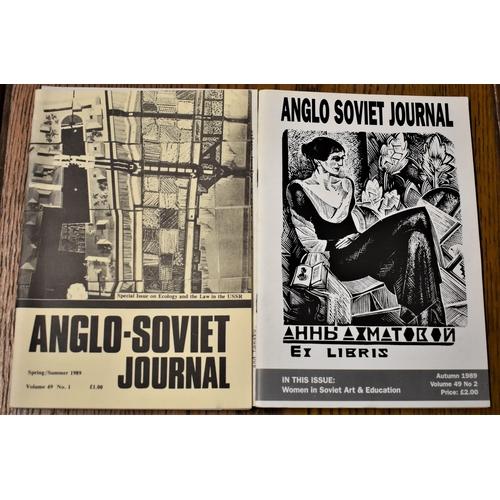 99 - The Anglo-Soviet Journal Volume 49 No.1 & 2 Summer and  Autumn 1989, interesting Soviet propaganda p...