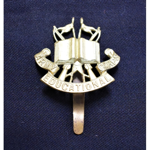 192 - Army Educational Corps Forage Cap Badge (Gilding-metal), slider. K&K: 1056...