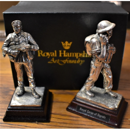 432 - Royal Hampshire Art Foundry Pewter Soldiers (2), of The Royal Corps of Signals and SAS Regiment 1980...
