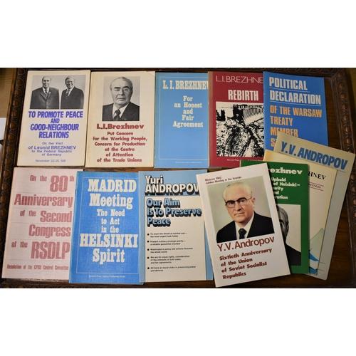 479 - Soviet Pamphlets (10) - a good selection of Cold War era Soviet booklets by L.I. Brezhnev, Andropov ...