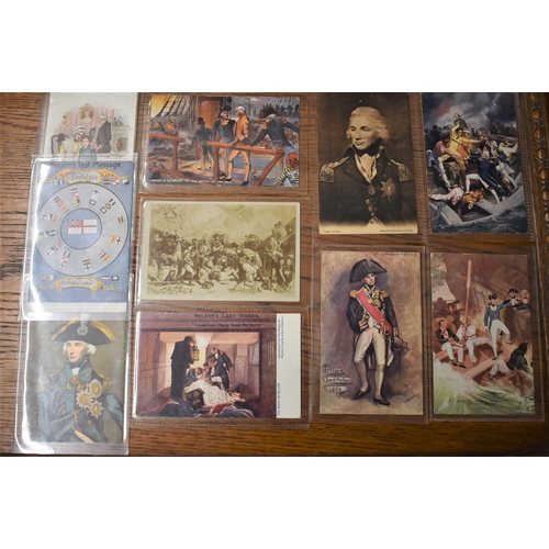 494 - Lord Horatio Nelson Postcards (10), an excellent selection of picture Postcards including The Death ...