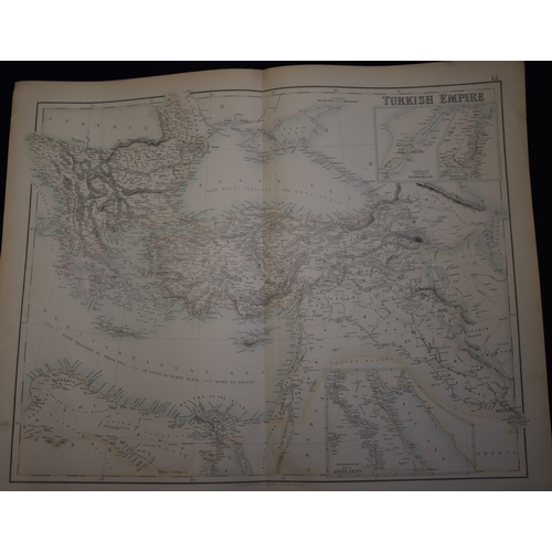 456 - Turkish Empire by A. Fullarton & Co. Edinburgh, London & Dublin, a map from the 1860s detailing the ...