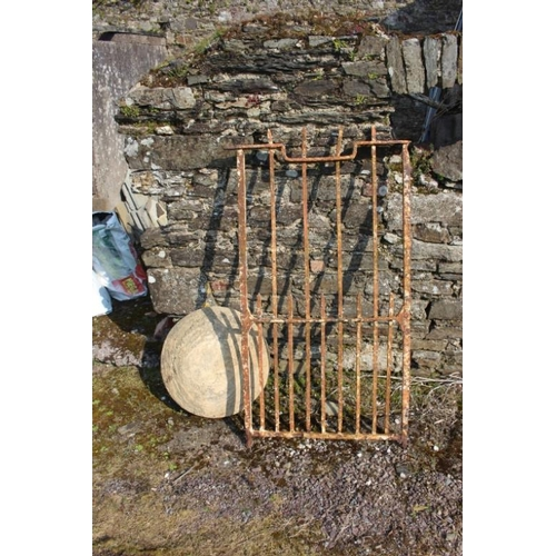 29 - Forge Iron Single Gate and a Toad Stool Top (no base)...