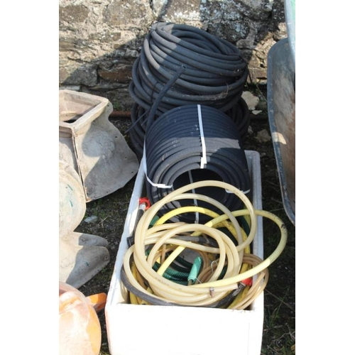 3 - Various Lengths of Garden Water Hose including one unopened Roll...