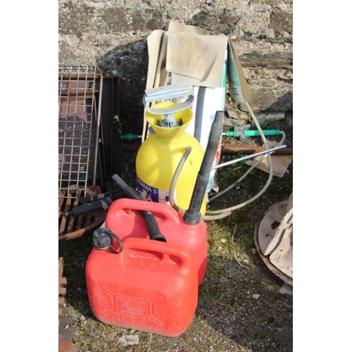 5 - Two Garden Sprayers & Two Plastic Fuel Containers...