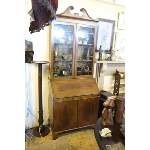 3 - Edwardian Inlaid Mahogany Bureau Bookcase with well fitted Interior (84cm Wide x 215cm High)...
