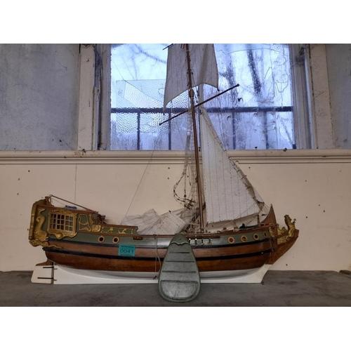 41 - Good Model of a Galleon Sailing Ship (60cm long x 80cm Tall)...