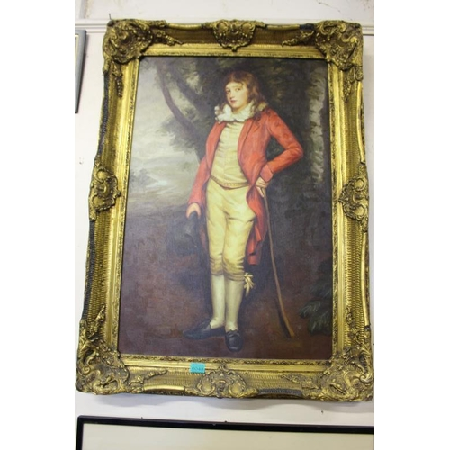 48 - 20th Century Picture of a Young Boy in a Gilt Frame (108cm x 78cm)...