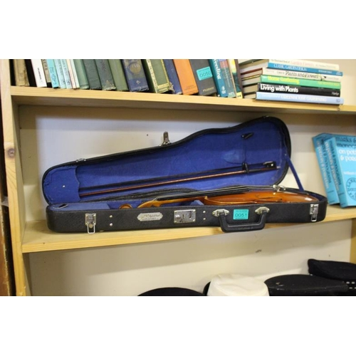 51 - Student Violin in case with a Bow (needs a bridge)...