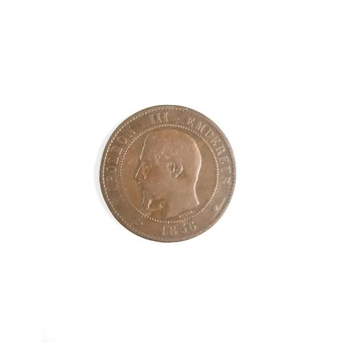 1856 Napoleon III Dix Centimes Coin