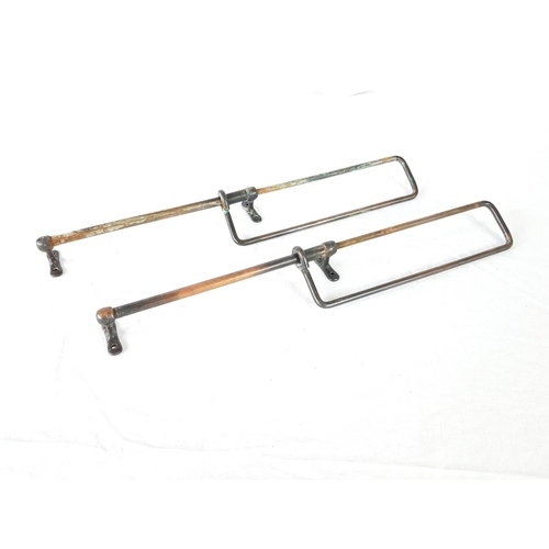 12 - A Pair Of Copper Victorian Kitchen / Bathroom Hanging Racks....