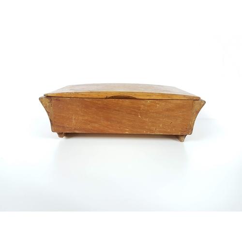 22 - A Vintage 1960's Mahogany Music Jewellry Box....