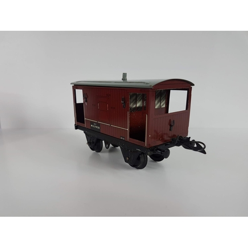 59 - A Boxed Hornby Series O Gauge By Meccano Tin Plate Brake Wagon - In Good Condition....
