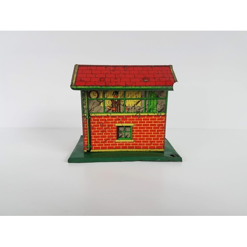 62 - A Vintage Brimtoy Tin Plate Signal Box In Good Condition....