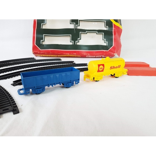 77 - A Boxed Hornby Trains R533 Clockwork Superset With Track, Locomotive, Wagons & More....
