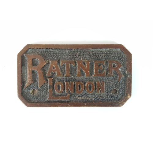 29 - A Ratner London Safe Plate In Great Condition....