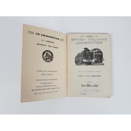 39 - Ian Allan ABC  British Railways Locomotives 10000 - 39999....