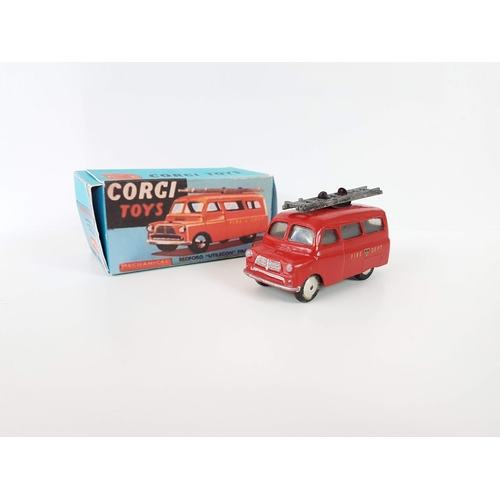 50 - A Boxed Corgi Toys 405M Bedford Utilecon Fire Tender In Excellent Condition - Please Note The Vehicl...